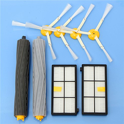 BephaMart 8pcs Vacuum Cleaner Accessories Kit Filters and Brushes for iRobot Roomba 800 900 Series by BephaMart