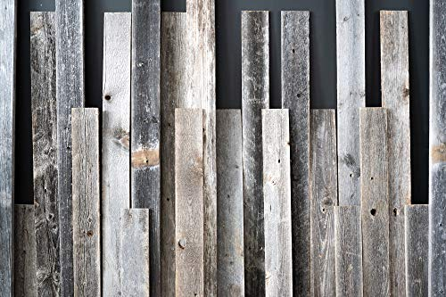 Rustic Farmhouse Reclaimed Barn Wood Bundle, Pack of 6 (60 in) Planks (Chairs Barn Wood)
