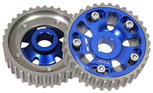 For Honda Acura Civic Crx Del Sol Integra B16 B-Series Dohc Engine Billet Aluminum Adjustable Cam Shaft Gear Set Blue Da Dc Eg Ek Em (Cam Dohc Series Gears)