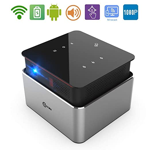 XZGG Proyectores Cine En Casa Full HD Mini Proyector WiFi ...