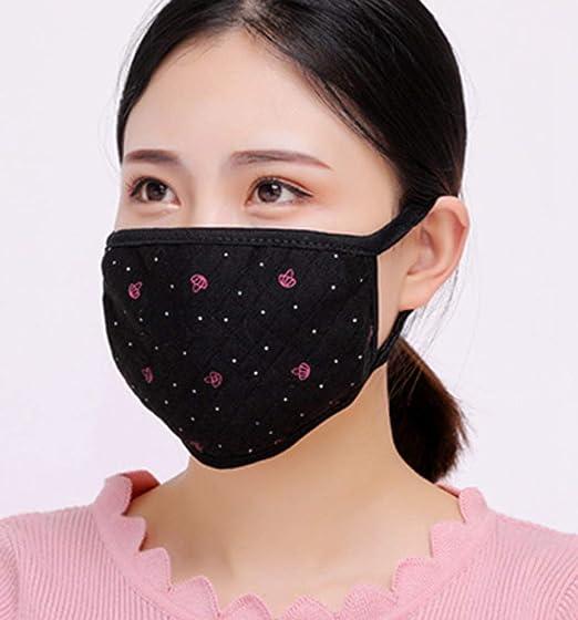 LIUQIAN Máscaras de Invierno Máscaras de Terciopelo de algodón Estampados de Damas Máscaras de Invierno engrosadas: Amazon.es: Jardín