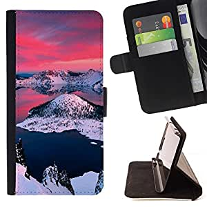 Momo Phone Case / Flip Funda de Cuero Case Cover - Alaska Aurora Borealis;;;;;;;; - HTC One M9