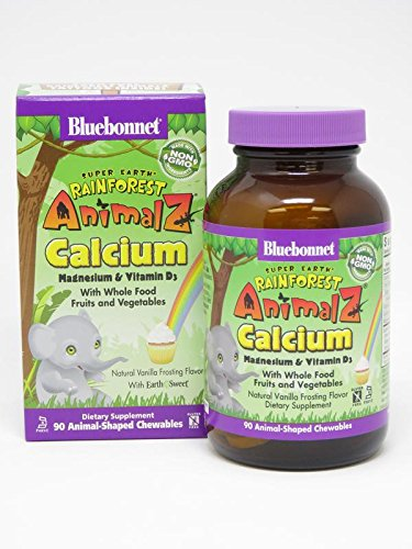 Bluebonnet Super Earth Rainforest Animalz Calcium Magnesium & Vitamin D3
