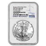2021 (W) 1 oz American Silver Eagle Coin Gem