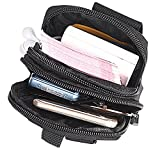 Tactical Waist Pack Multi-Purpose Tool Holder Pouch Durable Utility Army Camo Molle Bag with Zipper Nylon Tool Holder EDC Pouch Mobile Phone Belt Bag for Military Camping Hiking Ba