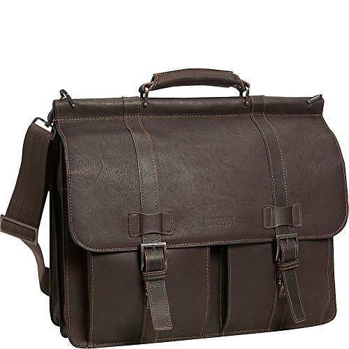 Kenneth Cole Reaction Colombian Leather Dual Compartment Flapover 15