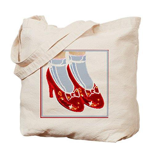 CafePress color rojo rubí Zapatillas–Gamuza de bolsa de lona bolsa, bolsa de la compra