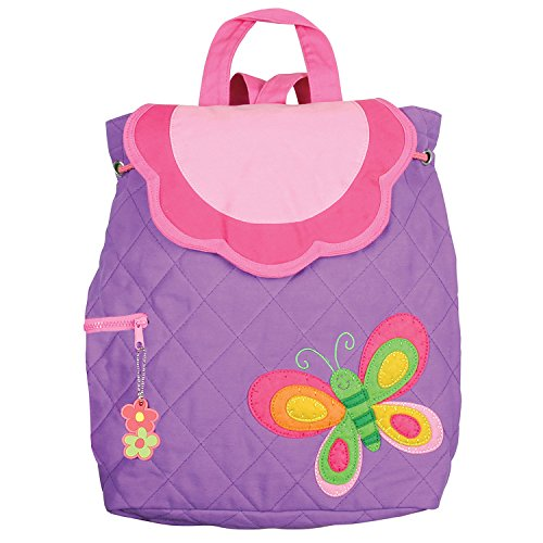 Stephen Joseph Quilted Backpack, Purple Butterfly ()