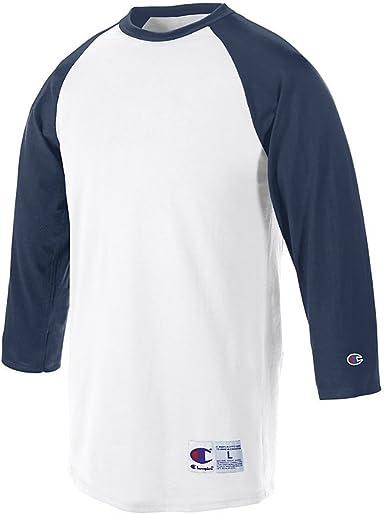 Champion raglán Camiseta de béisbol: Amazon.es: Ropa y accesorios