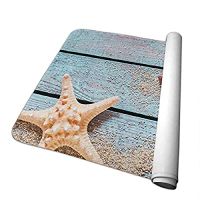 Changing Pad Spiny Starfish and Conch with Fishing Net Baby Diaper Incontinence Pad Mat Vintage Girls Bed Wetting Pads Sheet for Any Places for Home Travel Bed Play Stroller Crib Car