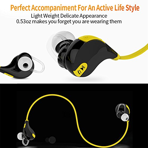 bluetooth headphones bluetooth v4 1 wireless stereo sports earbuds earphones headset headphone. Black Bedroom Furniture Sets. Home Design Ideas