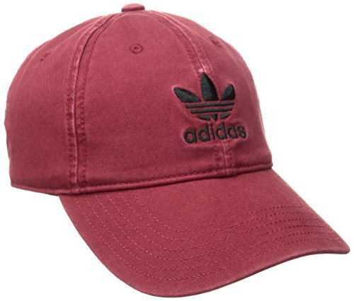 adidas Men's Originals Relaxed Strap Back Cap, One Size, Collegiate Burgundy (3 Pack) by adidas