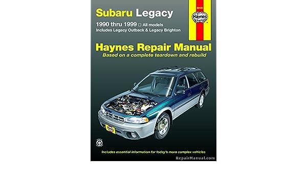 h89100 subaru legacy 1990 1999 haynes automotive repair workshop rh amazon com 1999 subaru legacy repair manual 2004 Subaru