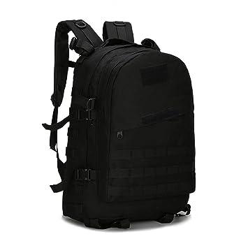 AAJZ Mochilas Tácticas Militares Molle Senderismo Daypacks Camping Senderismo Travelling Daypack Laptop Bag PUBG Mochila Escolar para Niños,Black: ...