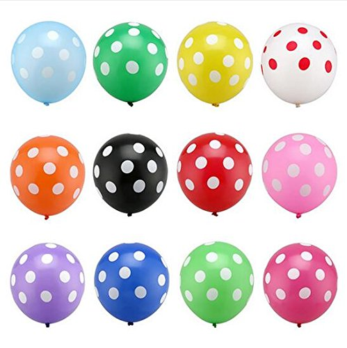 HEMALL 20pcs Latex Polka Dot Balloon 12