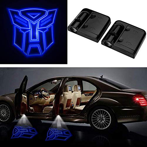 3D Wireless Magnetic Transformers Car Door Step LED Welcome Logo Shadow Ghost Light Laser Projector Lamp Blue Transformers ()