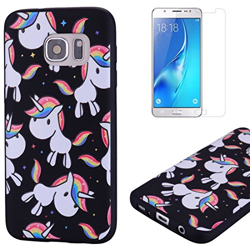 delicate For Samsung Galaxy S7 Case Silicone Black,OYIME Luxury