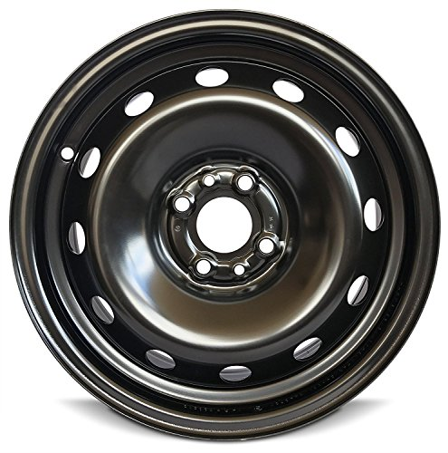 Wheels Package Custom Rims Tire - Road Ready Car Wheel For 2012-2018 Fiat 500 15 Inch 4 Lug Black Steel Rim Fits R15 Tire - Exact OEM Replacement - Full-Size Spare