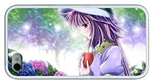Hipster carry iPhone 4 cases Anime Girl in Love TPU White for Apple iPhone 4/4S by icecream design