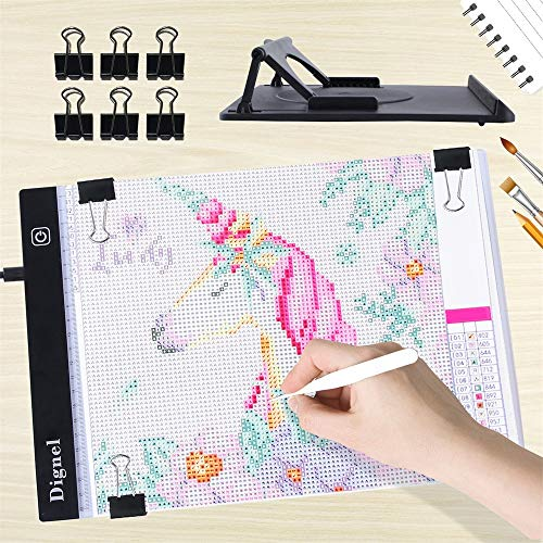 (Diamond Painting Pad, Dignel Diamond Painting Kits, A4 LED Light Pad Board Tablet Apply to 5D DIY Diamond Painting Watercolour Copy Quilting Tracing)
