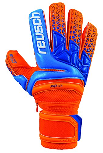 Reusch Soccer Prisma Pro G3 Ortho-Sleek Ortho-Tec Goalkeeper Gloves Orange/Blue, 8