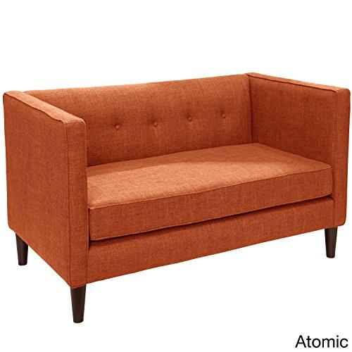 Skyline Furniture Zuma Linen Fabric Tufted Loveseat Yellow