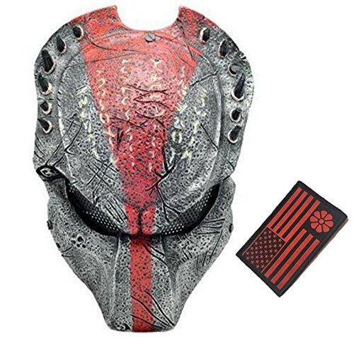 Eternal Heart WT606 Wire Mesh Alien Vs Predator AVP Wolf Full Face Protection Mask (Black/red)