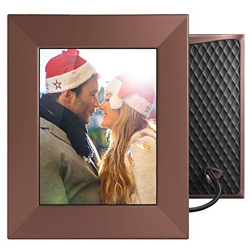 NIXPLAY Iris Marco Digital WiFi Fotos 8 Pulgadas W08E Bronce. USA la Aplicación para Enviar Fotos y Videos al Marco al Instante.