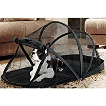 Beautylife88 Outdoor Foldable Pet Tent House Bed Mesh Dog Cat Playpen Black