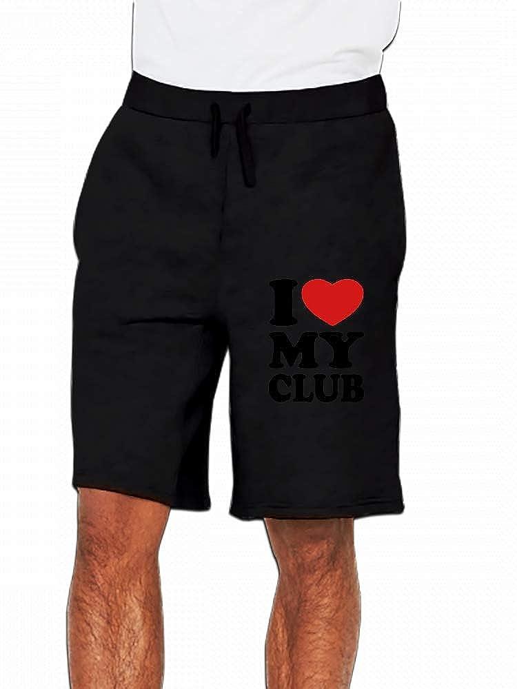 I Love My Club Mens Casual Shorts Pants