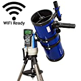TwinStar Blue 6'' iOptron Computer Controlled Reflector Telescope with iOptron StarFi Wi-Fi Adapter