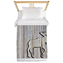 CafePress - Woodenmooserug.Png Twin Duvet - Twin Duvet Cover, Printed Comforter Cover, Unique Bedding, Microfiber