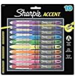 Sharpie Liquid Highlighters, Chisel Tip, Assorted, 10 Pack