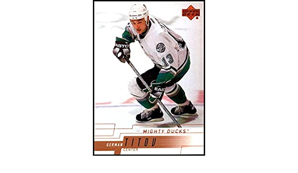 6026d8420ae Amazon.com: 2000-01 Upper Deck #233 German Titov NM-MT Anaheim Ducks  Officially Licensed NHL Hockey Trading Card: Collectibles & Fine Art