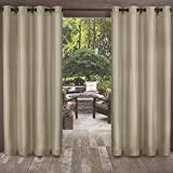 Exclusive Home Biscayne Indoor/Outdoor Two Tone Textured Window Curtain Panel Pair with Grommet Top, 54×84, Sand, 2 Piece Review