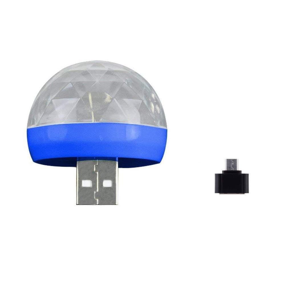Green USB Mini Mushroom Light Tuscom USB Disco Ball Party Light Sound Control Crystal Small Magic DJ Stage Light Portable Strobe Led RGB Lamp for Birthday Christmas Parties Disco Decorations