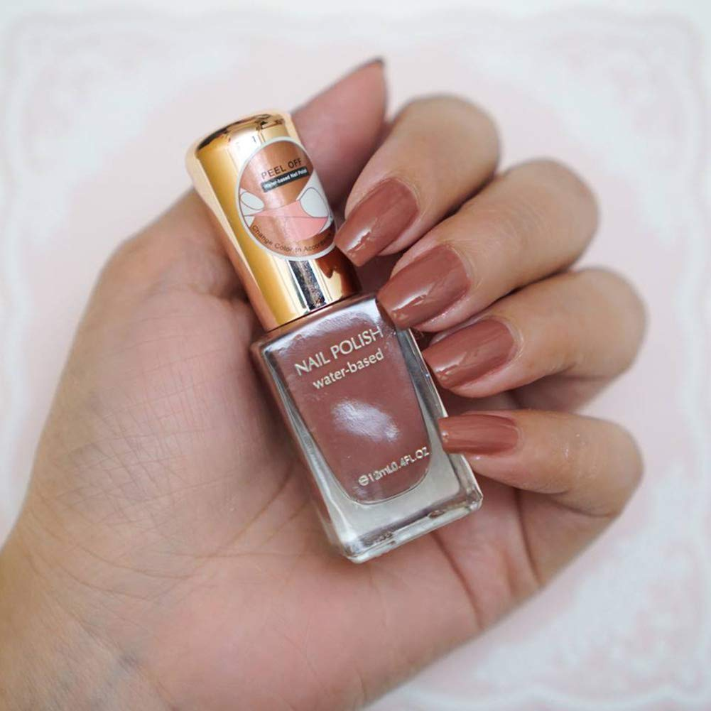 Buy Miniso Water Based Nail Polishes Colour Party Girl Nail Paints Nude Brown 12ml Online At Low Prices In India Amazon In