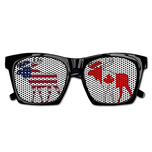 Canada Flag Moose Unisex Polarized Party Sunglasses Resin Frame Eyewear Favor Mesh Lens Sun - Canada Lenses