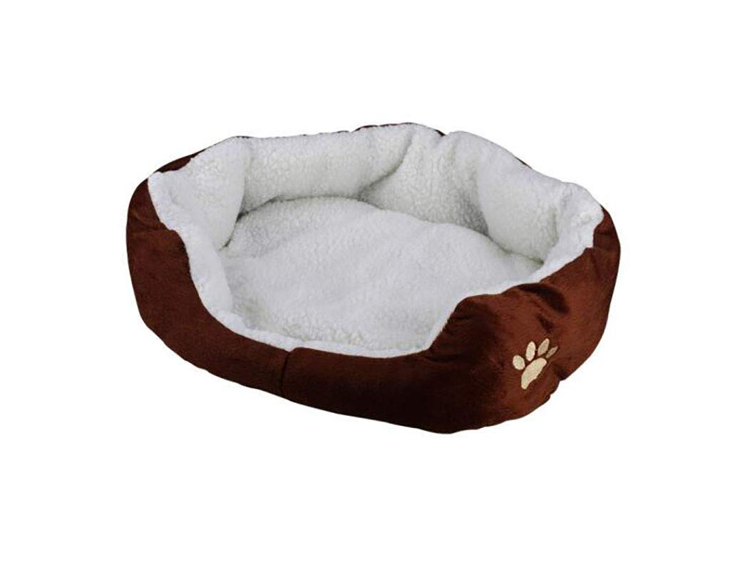 BROWN MTLTLCWW Pet Bed, Small And Medium Cats, Dogs, Pets, Mats, Four Seasons, Dog Bed, Cat Bed, Multicolor Optional (color   bluee, Size   M)