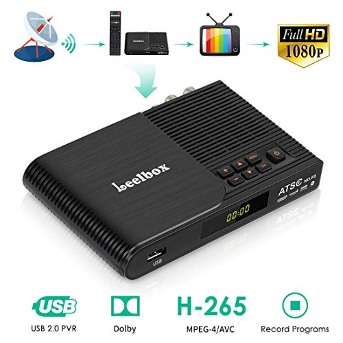 Digital Converter Box for Analog TV, HDTV Set Top Box for HD 1080P, ATSC Tuner with Record and Pause Live TV, USB Multimedia Playback by Kingbox