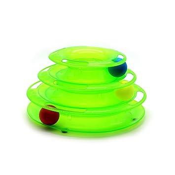 Rastreadores de juguete para gato/pista de bola/pelota + 2 juegos ...
