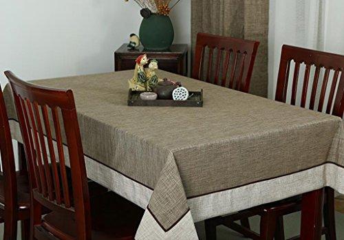 B 5  QPG Nappe Coton Lèpre Solide Couleur Table Cloth Coffee Table Nappe (Couleur   B, taille   5 )