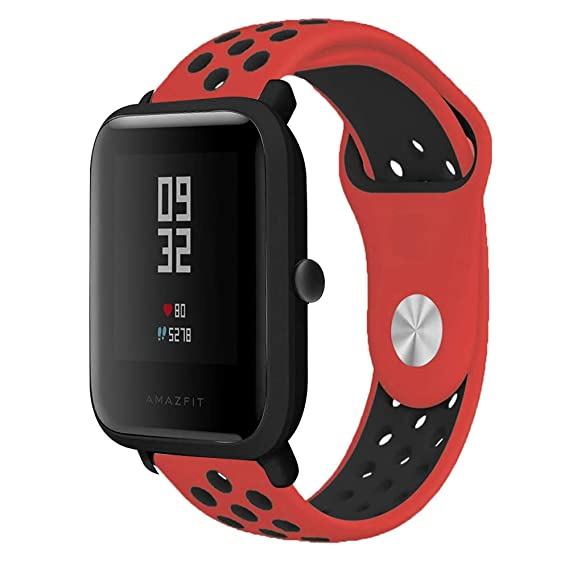 Senter for Xiaomi Amazfit Bip Younth Band,20mm Soft Silicone Sport Replacement Strap Band for Samsung Galaxy Watch 42mm/ Garmin VivoActive 3/ Ticwatch ...