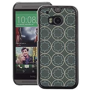 A-type Arte & diseño plástico duro Fundas Cover Cubre Hard Case Cover para HTC One M8 (Wallpaper Pattern Rustic Grey Gray)