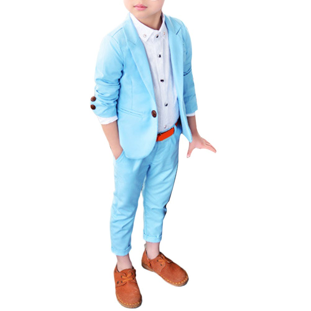 Zhhlaixing Boys Color suit, Boys prom suit, Page boy suits, Boys wedding suit, 3 - 10 years