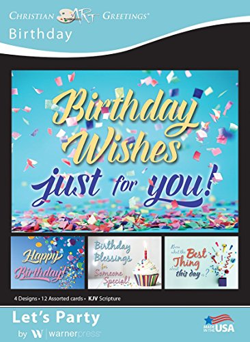 Let's Party - Birthday Greeting Cards - KJV Scripture - (Box of 12)