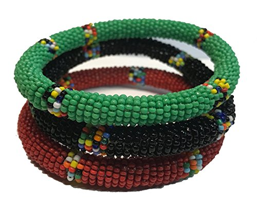 African Jewelry - Maasai Bangle Bracelet - Set of (African Bracelet)