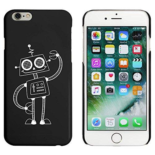 Noir 'Robot Heureux' étui / housse pour iPhone 6 & 6s (MC00038181)