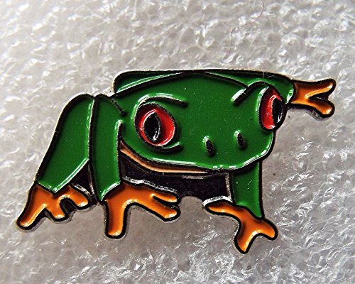 Green Frog Toad Enamel Pin Badge with Gift Pouch