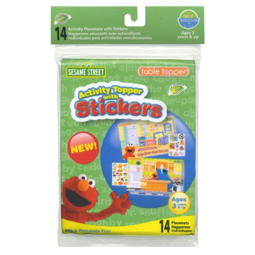 - Neat Solutions Activity Table Topper with Stickers, Sesame Street, 14-Count